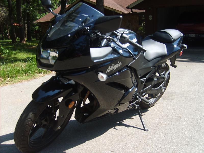 Black Kawasaki Ninja 250r Motorrad Bild Idee