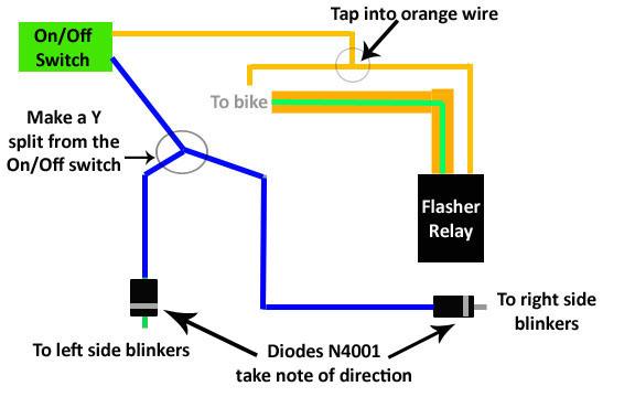 DIY: Ninja 250R Hazard Lights | Kawasaki Motorcycle Forums | Motorcycle Hazard Wiring Diagram |  | Kawasaki Motorcycle Forums