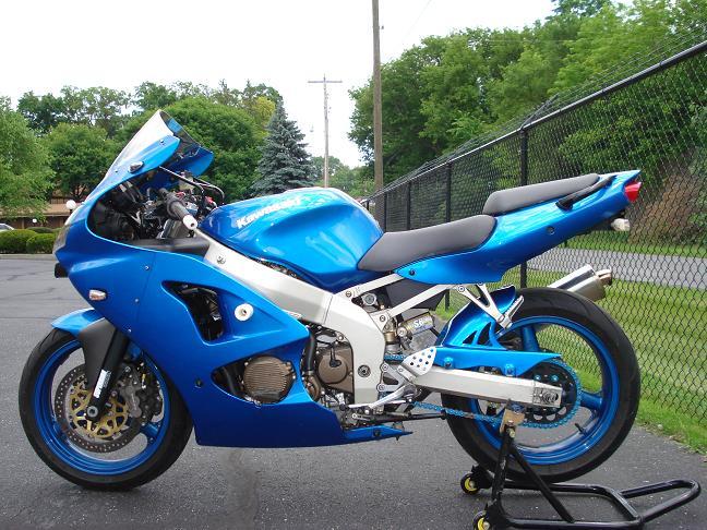 FS: 2001 Lightning Blue Kawasaki ZX6R $3500 - KawiForums ...