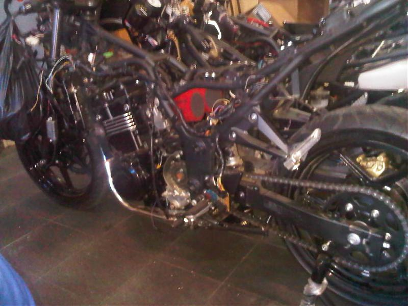 THE EX500 Motor swap with pics - KawiForums - Kawasaki Motorcycle Forums