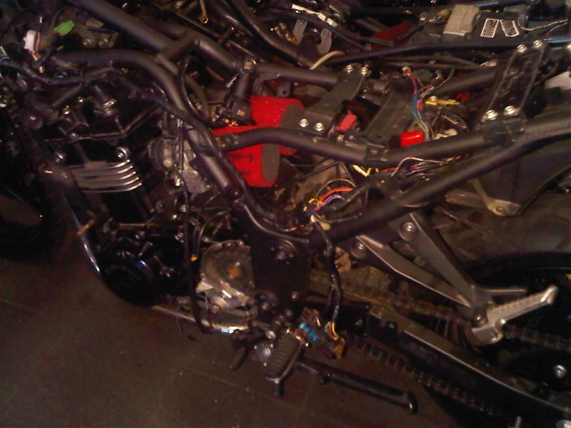 THE EX500 Motor swap with pics - KawiForums - Kawasaki