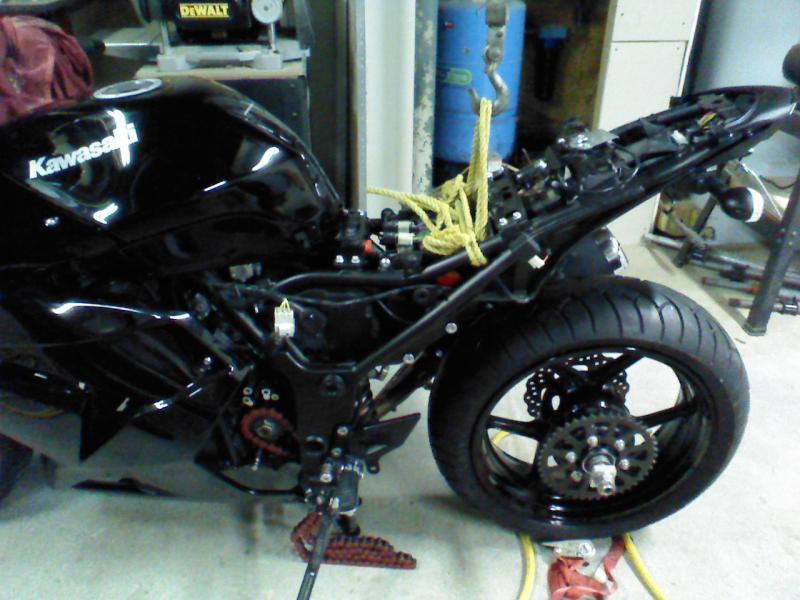 custom 250r with a 180 rear tire - kawiforums - kawasaki