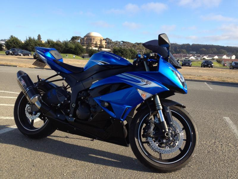 Long Time Lurker Posting My Build 2011 ZX6r Candy Blue