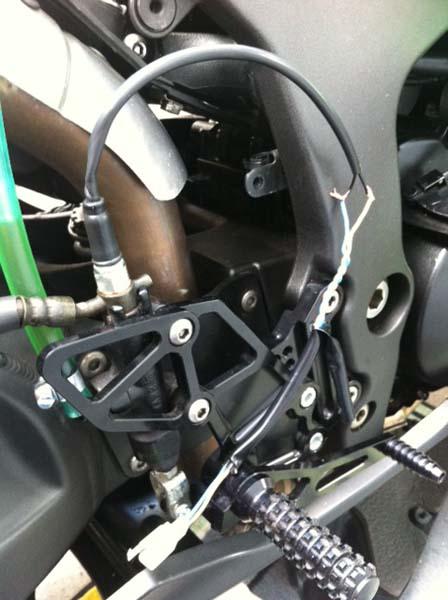 banjo brake light switch install - KawiForums - Kawasaki ...