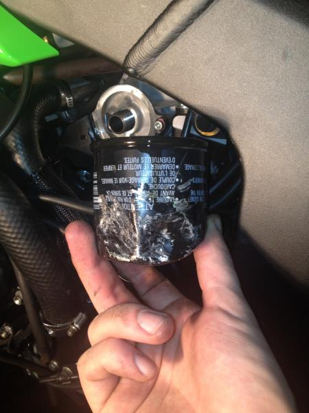 oil filter removal for a 2011 zx6r - KawiForums - Kawasaki