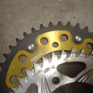 Comparing two sprockets